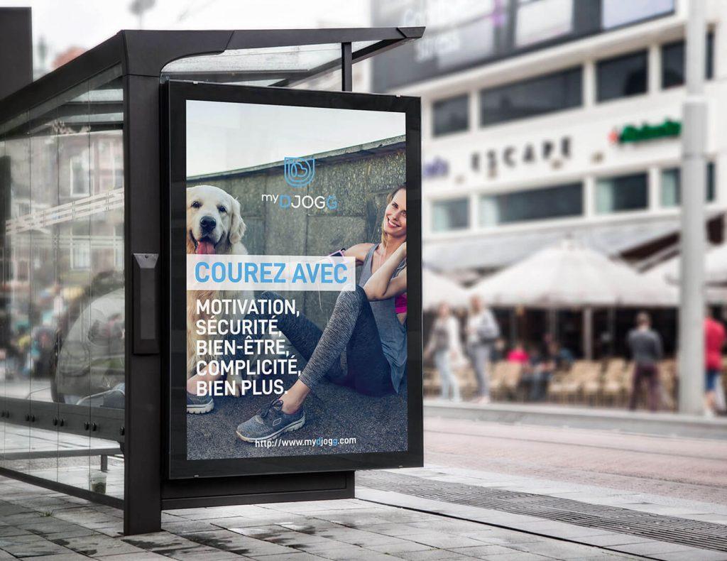 Publicité sur abris bus